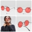 ASOS Metal 90s Round Sunglasses With Red Coloured Lens thumbnail 1