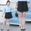 กางเกงกระโปรงขาสั้นสีดำแฟชั่นสาวอวบ (XL,2XL,3XL,4XL) #1090