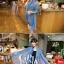 ผ้าพันคอลายเขาวงกต Maze Pattern : สีน้ำเงิน - ผ้าพันคอ Cotton - 160x80 cm thumbnail 8