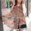 ผ้าพันคอแฟชั่น Chiffon Vintage : สีส้ม ผ้าชีฟอง 160x60 cm thumbnail 3