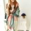 ผ้าพันคอ ผ้าคลุมพัชมีนา Pashmina scarf ลายตาราง size 200x60 cm - สี Light Pink thumbnail 1