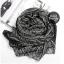 ผ้าพันคอลายเขาวงกต Maze Pattern : สีดำ- ผ้าพันคอ Cotton -170x70 cm thumbnail 5