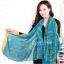 ผ้าพันคอแฟชั่น ลาย Graphic H สีฟ้า ผ้า viscose size 170x70 cm thumbnail 3