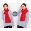 ผ้าพันคอไหมพรม ผ้า cashmere scarf size 180x30 cm - สี red thumbnail 3