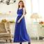 ชุดราตรีระดับ high-end ชุดชีฟองผ้าไหม สวยดุจพระนางคลีโอพัตรา สีชมพู/สีเขียว/สีน้ำเงิน (XL,2XL,3XL)