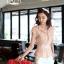 เสื้อทำงานผู้หญิงแขนสั้น ผ้าชีฟอง สีชมพู thumbnail 14