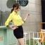 เสื้อเชิ้ตแฟชั่นผู้หญิงแขนยาว สีเหลือง thumbnail 7