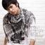 ผ้าพันคอผู้ชาย Man scarf ผ้าพันคอชีมัค Shemagh : สีขาวดำ size 100 x 100 cm thumbnail 8