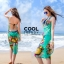 ผ้าคลุมชุดว่ายน้ำ ผ้าคลุมชายหาด ผ้าชายทะเล SH774 : ผ้าชีฟอง size 140x80 cm (มีสายคล้องแขน) thumbnail 3