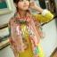 ผ้าพันคอลายดอกไม้ Blossom Bloom : Light Pink ผ้า Viscose size 180x90 cm thumbnail 2