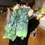 ผ้าพันคอลายลูกน้ำ Paisley Pattern : สีครามเขียว - ผ้าพันคอ Cotton - 180x80 cm thumbnail 3