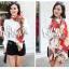 ผ้าพันคอแฟชั่นลายโซ่ Chiffon Chain : สีแดง : ผ้าพันคอ Silk Chiffon 160x60 cm thumbnail 6