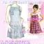สาวอวบห้ามพลาด! LDB480::สไตล์เกาหลี ชุดแซก/เดรสผ้าคอตตอนใส่สบาย ดีไซน์อกเก๋ ชายลายสก๊อตสวยน่ารัก เฉดฟ้า thumbnail 1