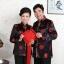 เสื้อจีนชาย-หญิงพิมพ์ลายคลาสสิก สีดำ (XL,2XL,3XL) MJ0001-D