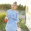 (2 ตัวคละแบบ 320.-) ATA467-212#547 ฟรีไซส์สาวอวบใส่ได้ Island Paradise Color Trend เสื้อลายริ้วเล็ก คอพับเก๋ ใส่แบบเฉียงๆ มีโบผูกที่เอว แต่งกระดุมด้านข้างเสื้อ thumbnail 6