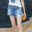 กางเกงยีนส์ขาสั้นไซส์ใหญ่ กางเกงยีนส์ขาด สวยเซอร์ (32,34,36,38,40) E3517