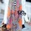 ผ้าพันคอแฟชั่น Chiffon Vintage : สีส้ม ผ้าชีฟอง 160x60 cm thumbnail 4