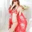 เสื้อคลุมนอนลายกิโมโน สีแดงลายดอกไม้ thumbnail 2