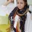 ผ้าพันคอลายทาง Strip Zigzag scarf : ผ้าพันคอ Viscose - size 160x75 cm - สีน้ำเงิน thumbnail 4