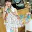 ผ้าพันคอแฟชั่นลายดอกไม้ Blossom Bloom : White color ผ้า Viscose - size 180x90 cm thumbnail 2