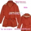 TB386 :Hood Overcoat: ใหม่! เสื้อคลุมกันหนาว มีหมวดฮูด สีส้มอิฐ มีเข็มขัดเก๋ thumbnail 1