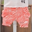 ชุดเสื้อยืดสกรีนลายม้าลาย + กางเกง (สีส้ม ผ้าดีค่ะ) thumbnail 16