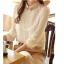 เสื้อเชิ้ตแฟชั่นทำงานผู้หญิงแขนยาวลูกไม้สีขาว ปกสีชมพูโอรส thumbnail 10