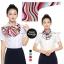 ผ้าพันคอสำเร็จรูป ผ้ายูนิฟอร์ม uniform ผ้าไหมซาติน : L19 thumbnail 1