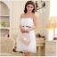 ชุดราตรีผ้าซาติน+ผ้าตาข่าย สีขาว (XL,2XL,3XL) JK-9500