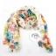 ผ้าพันคอแฟชั่นลายดอกไม้ Blossom Bloom : White color ผ้า Viscose - size 180x90 cm thumbnail 5