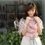 ผ้าพันคอลายโบว์ : Bow print scarf สีชมพู - ผ้าชีฟอง 160 x 45 cm thumbnail 3