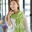 ผ้าพันคอแฟชั่น Cotton Candy : สี Apple Green thumbnail 3