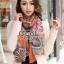 ผ้าพันคอแฟชั่น Chiffon Vintage : สีส้ม ผ้าชีฟอง 160x60 cm thumbnail 2