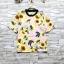 ส่ง:เสื้อผ้าสปันคอกลมลายดอกทานตะวันสดใส/อก38 thumbnail 1
