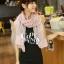ผ้าพันคอวินเทจ ลาย Porcelian : ผ้าพันคอ Viscose 160 x 80 cm สี Pastel pink thumbnail 2