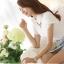 เสื้อเชิ้ตผู้หญิงแขนสั้นแฟชั่น สีขาว thumbnail 4
