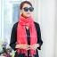 ผ้าพันคอ ผ้าคลุมพัชมีนา Pashmina scarf size 160 x 60 cm - สีชมพูพีช thumbnail 2