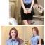 เสื้อเชิ้ตทำงานแขนสั้นสีฟ้า โบว์เล็ก เป็นชุดยูนิฟอร์ม ชุดพนักงานออฟฟิต thumbnail 3
