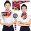 ผ้าพันคอสำเร็จรูป ผ้ายูนิฟอร์ม uniform ผ้าไหมซาติน : L88 thumbnail 1