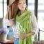 ผ้าพันคอแฟชั่น Cotton Candy : สี Apple Green thumbnail 4