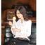 เสื้อทำงานสาวออฟฟิศ เรียบหรู ดูดี สีขาว thumbnail 2