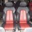 BENZ SLK E190 E160 เบาะMERCEDES BENZ SLK ทรงซิ่ง ขอบข้างหนังแท้สีดำเดินด้ายแดง ตรงกลางหนังสีแดง เบาะเบนซ์ SLK E190 E160 เบาะปีก thumbnail 10