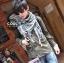 ผ้าพันคอชีมัค Shemash : สีขาวดำ size 100 x 100 cm thumbnail 6