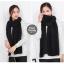 ผ้าพันคอไหมพรม ผ้า cashmere scarf size 180x30 cm - สี Black thumbnail 3