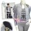 แบบสาวเกาหลี ฮิตตามให้ทันBlazerตัวโปรดTA464:Military Blazer:เสื้อคลุมเบลเซอร์ไหล่ตั้ง ได้ลุคเก๋ดีไซน์สวยสไตล์มิลิทารี่สีเทาเก๋ thumbnail 1