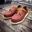 รองเท้าผู้ชาย | รองเท้าแฟชั่นชาย Red Brown Boat Shoe หนังชามัวร์ (หนังลูกวัวแท้) thumbnail 1