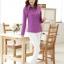 เสื้อผู้หญิงสีม่วงแฟชั่นแขนยาว เรียบหรู thumbnail 5
