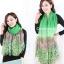 ผ้าพันคอลายทุ่งดอกไม้ Flower Garden : สีเขียว ผ้า Viscose size 180x90 cm thumbnail 5