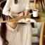 เสื้อเชิ้ตแฟชั่นทำงานผู้หญิงแขนยาวลูกไม้สีขาว ปกสีชมพูโอรส thumbnail 22