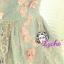 พร้อมส่ง สไตล์ Japanese ViVi 3D Flower dress ATA494 เดรสลูกไม้สองชั้นแขนกุด ติดดอกไม้สามมิติ ผ้าลูกไม้น่ารักสุดๆ โทนฟ้า stock574 thumbnail 4
